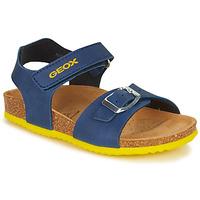 Pantofi Băieți Sandale  Geox J GHITA BOY Albastru / Galben