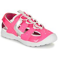 Pantofi Fete Sandale sport Geox J VANIETT GIRL Roz / Argintiu