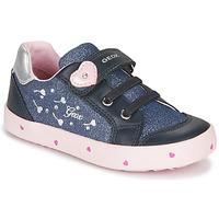 Pantofi Fete Pantofi sport Casual Geox B KILWI GIRL Albastru / Roz