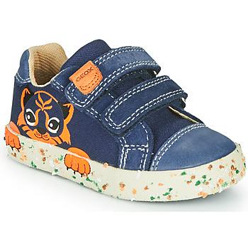 Pantofi Băieți Pantofi sport Casual Geox B KILWI BOY Bleumarin / Maro