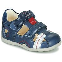 Pantofi Băieți Sandale  Geox B KAYTAN Albastru / Alb / Roșu