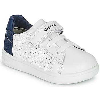 Pantofi Băieți Pantofi sport Casual Geox B DJROCK BOY Alb / Albastru