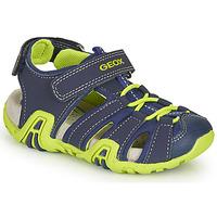 Pantofi Băieți Sandale sport Geox B SANDAL KRAZE Bleumarin / Verde