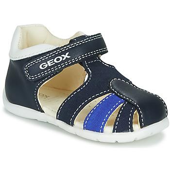 Pantofi Băieți Sandale și Sandale cu talpă  joasă Geox B ELTHAN BOY Bleumarin / Alb