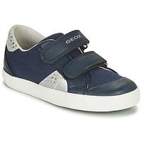 Pantofi Fete Pantofi sport Casual Geox B GISLI GIRL Bleumarin / Argintiu
