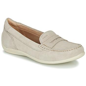 Pantofi Femei Mocasini Geox D YUKI Bej