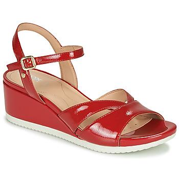 Pantofi Femei Sandale  Geox D ISCHIA Roșu