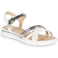 Pantofi Femei Sandale  Geox D SANDAL HIVER Argintiu / Alb
