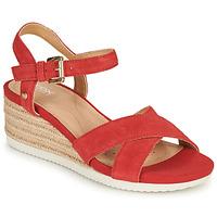 Pantofi Femei Sandale  Geox D ISCHIA CORDA Roșu