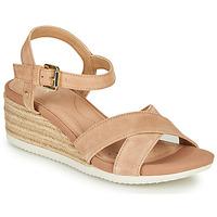 Pantofi Femei Sandale  Geox D ISCHIA CORDA Bej