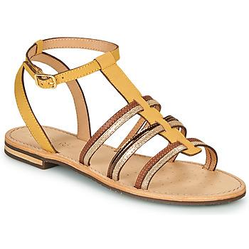 Pantofi Femei Sandale  Geox D SOZY Galben / Maro / Auriu