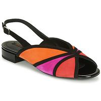 Pantofi Femei Sandale  Geox D WISTREY SANDALO Negru / Roșu / Roz