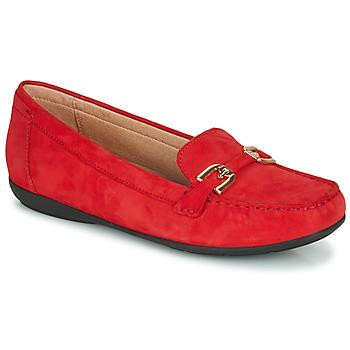 Pantofi Femei Mocasini Geox D ANNYTAH MOC Roșu / Auriu