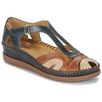 Pantofi Femei Sandale  Pikolinos CADAQUES W8K Albastru / Camel