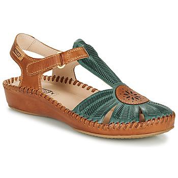 Pantofi Femei Sandale și Sandale cu talpă  joasă Pikolinos P. VALLARTA 655 Camel / Verde
