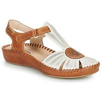 Pantofi Femei Sandale și Sandale cu talpă  joasă Pikolinos P. VALLARTA 655 Alb / Camel