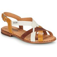 Pantofi Femei Sandale  Pikolinos ALGAR W0X Coniac / Alb / Galben