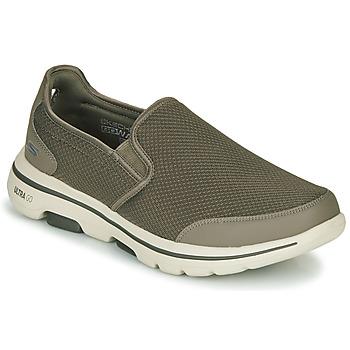 Pantofi Bărbați Pantofi Slip on Skechers GO WALK 5 Kaki