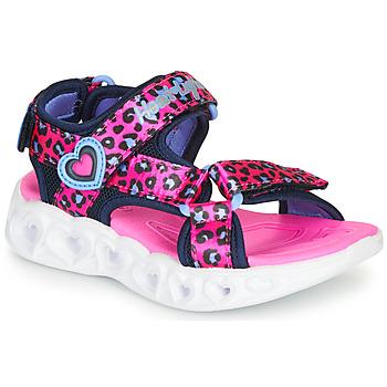 Pantofi Fete Sandale sport Skechers HEART LIGHTS Roz / Negru