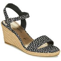 Pantofi Femei Sandale  Tamaris LIVIA Negru / Alb