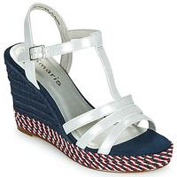 Pantofi Femei Sandale  Tamaris CYNARA Alb / Albastru / Roșu