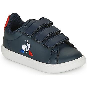 Pantofi Copii Pantofi sport Casual Le Coq Sportif COURTSET INF Bleumarin / Roșu
