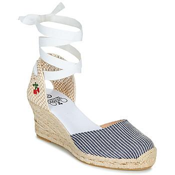 Pantofi Femei Sandale  Le Temps des Cerises POLY Albastru / Alb