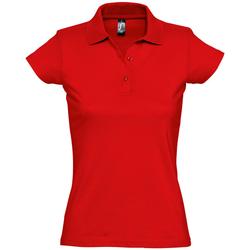 Îmbracaminte Femei Tricou Polo mânecă scurtă Sols PRESCOTT POLO MUJER Rojo