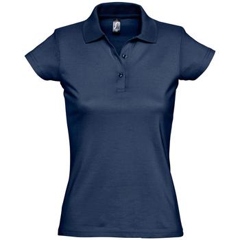 Îmbracaminte Femei Tricou Polo mânecă scurtă Sols PRESCOTT CASUAL DAY Azul