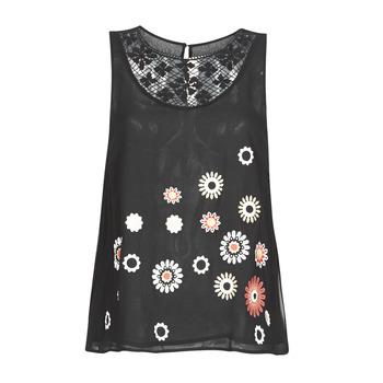 Îmbracaminte Femei Maiouri și Tricouri fără mânecă Desigual TEBAS Negru