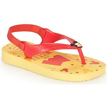 Pantofi Băieți  Flip-Flops Havaianas BABY DISNEY CLASSICS II Yellow / Red