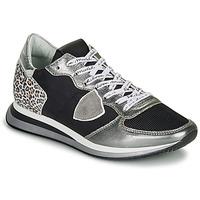 Pantofi Femei Pantofi sport Casual Philippe Model TROPEZ X Negru / Argintiu