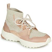 Pantofi Femei Pantofi sport stil gheata Coach C245 RUNNER Roz / Nude / Argintiu