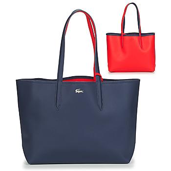 Genti Femei Sacoșe shopping și Genti shopping Lacoste ANNA Bleumarin / Roșu