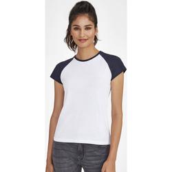 Îmbracaminte Femei Tricouri mânecă scurtă Sols MILKY BICOLOR SPORT Multicolor
