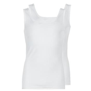 Îmbracaminte Bărbați Maiouri și Tricouri fără mânecă Athena COTON BIO Alb