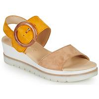 Pantofi Femei Sandale  Gabor KOKREM Bej / Galben