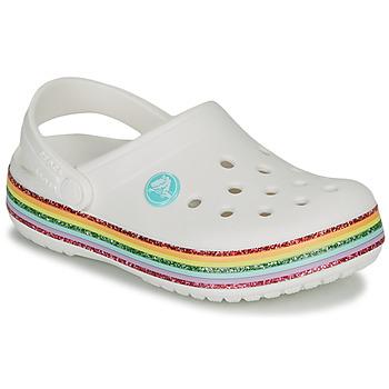 Pantofi Fete Saboti Crocs CROCBAND RAINBOW GLITTER CLG K Alb