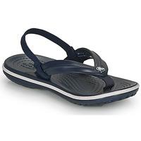 Pantofi Copii Sandale  Crocs CROCBAND STRAP FLIP K Bleumarin