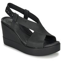 Pantofi Femei Sandale  Crocs CROCS BROOKLYN HIGH WEDGE W Negru