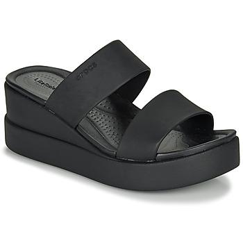 Pantofi Femei Sandale  Crocs CROCS BROOKLYN MID WEDGE W Negru