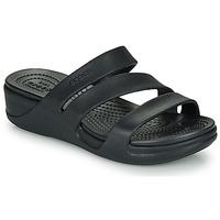 Pantofi Femei Papuci de vară Crocs Crocs Monterey Wedge W Negru
