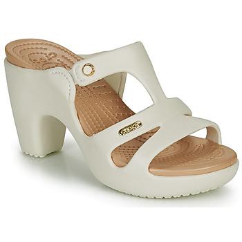 Pantofi Femei Papuci de vară Crocs Cyprus V Heel W Alb