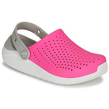 Pantofi Fete Saboti Crocs LITERIDE CLOG K Roz / Alb
