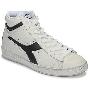 Pantofi Pantofi sport stil gheata Diadora GAME L HIGH WAXED Alb / Negru