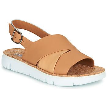 Pantofi Femei Sandale și Sandale cu talpă  joasă Camper TWINS Nude / Alb