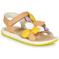 Pantofi Copii Sandale  Camper TWINS Maro / Galben