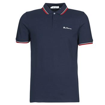 Îmbracaminte Bărbați Tricou Polo mânecă scurtă Ben Sherman SIGNATURE POLO Bleumarin / Roșu / Alb
