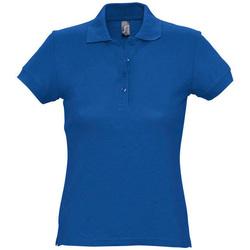 Îmbracaminte Femei Tricou Polo mânecă scurtă Sols PASSION WOMEN COLORS Azul