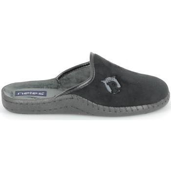 Pantofi Papuci de casă Boissy NELES Mule Noir Negru